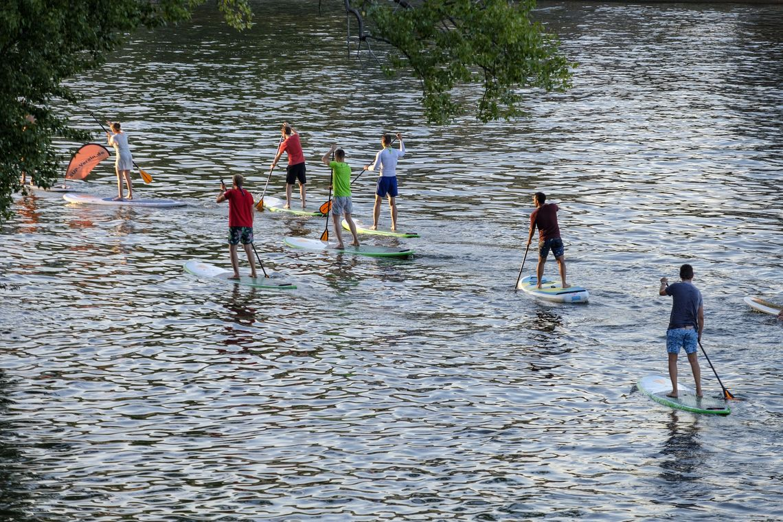 Stand-Up-Paddling Gruppe