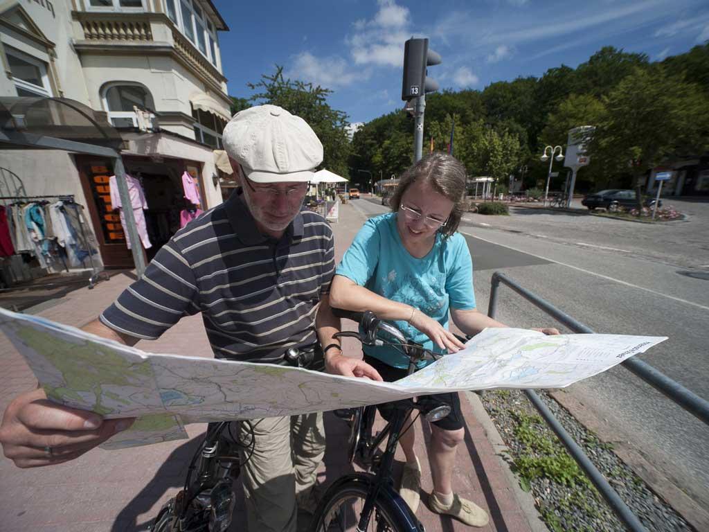Radfahrer in Malente