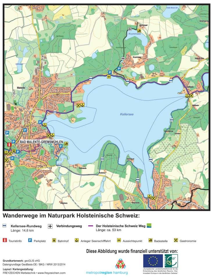 Holsteinische Schweiz Karte.Wanderwege Holsteinische Schweiz Routenbeschreibung